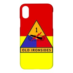 Flag Of U S  Army 1st Armored Division Apple Iphone X Hardshell Case