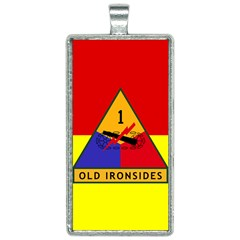 Flag Of U S  Army 1st Armored Division Rectangle Necklace