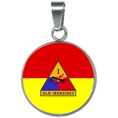 Flag Of U S  Army 1st Armored Division 20mm Round Necklace