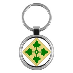 U S  Army 4th Infantry Division Shoulder Sleeve Insignia (1918¨c2015) Key Chains (round)