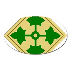 U S  Army 4th Infantry Division Shoulder Sleeve Insignia (1918¨c2015) Oval Magnet