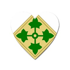 U S  Army 4th Infantry Division Shoulder Sleeve Insignia (1918–2015) Heart Magnet by abbeyz71