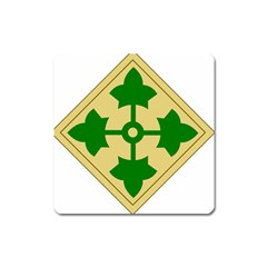 U S  Army 4th Infantry Division Shoulder Sleeve Insignia (1918¨c2015) Square Magnet