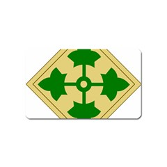 U S  Army 4th Infantry Division Shoulder Sleeve Insignia (1918¨c2015) Magnet (name Card)