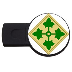 U S  Army 4th Infantry Division Shoulder Sleeve Insignia (1918¨c2015) Usb Flash Drive Round (2 Gb)
