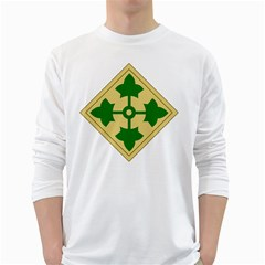 U S  Army 4th Infantry Division Shoulder Sleeve Insignia (1918¨c2015) Long Sleeve T Shirt
