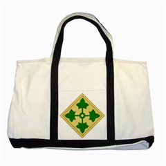 U S  Army 4th Infantry Division Shoulder Sleeve Insignia (1918¨c2015) Two Tone Tote Bag