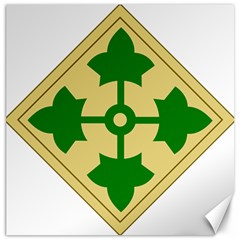 U S  Army 4th Infantry Division Shoulder Sleeve Insignia (1918¨c2015) Canvas 16  X 16