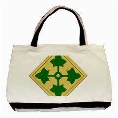 U S  Army 4th Infantry Division Shoulder Sleeve Insignia (1918¨c2015) Basic Tote Bag (two Sides)