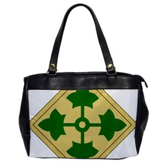 U S  Army 4th Infantry Division Shoulder Sleeve Insignia (1918¨c2015) Oversize Office Handbag