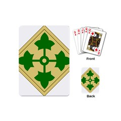U S  Army 4th Infantry Division Shoulder Sleeve Insignia (1918¨c2015) Playing Cards (mini)