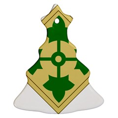 U S  Army 4th Infantry Division Shoulder Sleeve Insignia (1918¨c2015) Christmas Tree Ornament (two Sides)