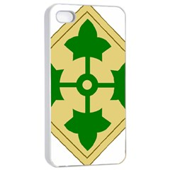 U S  Army 4th Infantry Division Shoulder Sleeve Insignia (1918¨c2015) Apple Iphone 4/4s Seamless Case (white)