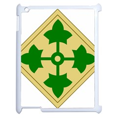 U S  Army 4th Infantry Division Shoulder Sleeve Insignia (1918¨c2015) Apple Ipad 2 Case (white)