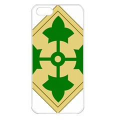 U S  Army 4th Infantry Division Shoulder Sleeve Insignia (1918¨c2015) Apple Iphone 5 Seamless Case (white) by abbeyz71