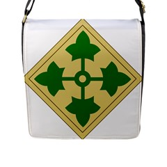 U S  Army 4th Infantry Division Shoulder Sleeve Insignia (1918¨c2015) Flap Closure Messenger Bag (l)