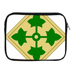 U S  Army 4th Infantry Division Shoulder Sleeve Insignia (1918¨c2015) Apple Ipad 2/3/4 Zipper Cases