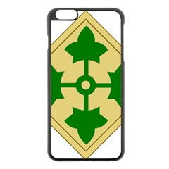 U S  Army 4th Infantry Division Shoulder Sleeve Insignia (1918¨c2015) Apple Iphone 6 Plus/6s Plus Black Enamel Case