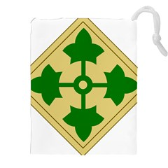 U S  Army 4th Infantry Division Shoulder Sleeve Insignia (1918¨c2015) Drawstring Pouch (xxl)