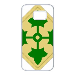 U S  Army 4th Infantry Division Shoulder Sleeve Insignia (1918¨c2015) Samsung Galaxy S7 Edge White Seamless Case