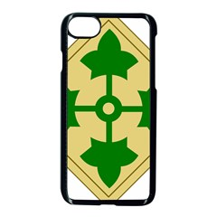 U S  Army 4th Infantry Division Shoulder Sleeve Insignia (1918¨c2015) Apple Iphone 7 Seamless Case (black)