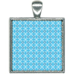 Blue It Is Square Necklace
