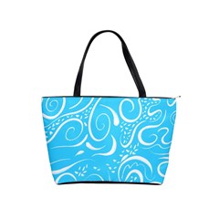 Blue Scribbles Classic Shoulder Handbag by TimelessFashion