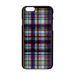 Bold Grid Apple Iphone 6/6s Black Enamel Case by FEMCreations