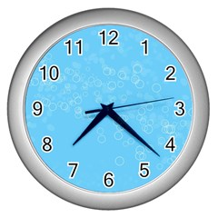 Bubble Style Wall Clock (silver)