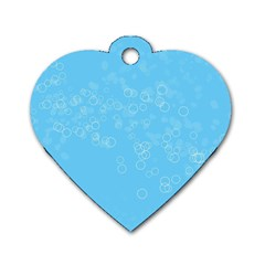 Bubble Style Dog Tag Heart (two Sides)