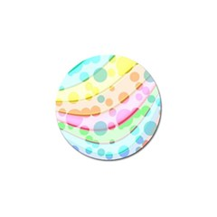Bubbles On A Rainbow Golf Ball Marker (4 Pack)