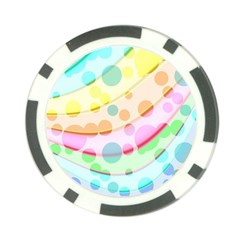 Bubbles On A Rainbow Poker Chip Card Guard