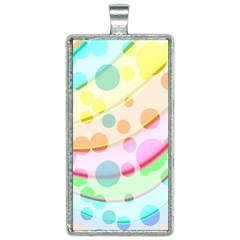 Bubbles On A Rainbow Rectangle Necklace by TimelessFashion