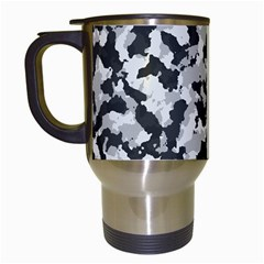 Camouflage In Black And White Travel Mugs (white)
