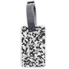 Camouflage In Black And White Luggage Tags (one Side)