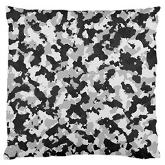 Camouflage In Black And White Large Cushion Case (two Sides)