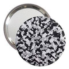 Camouflage In Black And White 3  Handbag Mirrors