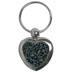 Camouflage In Green Key Chains (heart)
