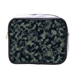 Camouflage In Green Mini Toiletries Bag (one Side)