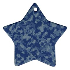 Camouflage In Blue Ornament (star)