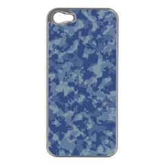 Camouflage In Blue Apple Iphone 5 Case (silver)