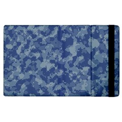 Camouflage In Blue Apple Ipad 2 Flip Case