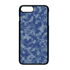 Camouflage In Blue Apple Iphone 7 Plus Seamless Case (black)
