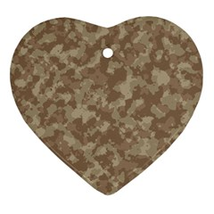 Camouflage In Brown Ornament (heart) by TimelessDesigns
