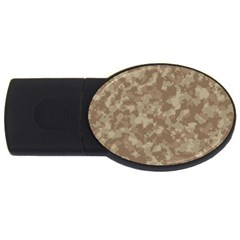 Camouflage In Brown Usb Flash Drive Oval (2 Gb)