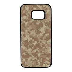 Camouflage In Brown Samsung Galaxy S7 Black Seamless Case by TimelessDesigns