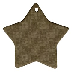 Canvas Style Star Ornament (two Sides)