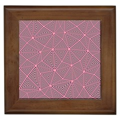 Chaos Of Triangles In Pink Framed Tiles