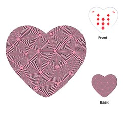 Chaos Of Triangles In Pink Playing Cards (heart) by TimelessDesigns
