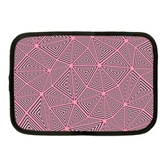 Chaos Of Triangles In Pink Netbook Case (medium) by FEMCreations